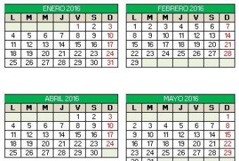 Calendario 2016 editable en Excel para imprimir