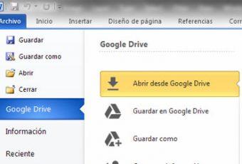 Guardar en Google Drive desde Office: instalación y prueba del complemento