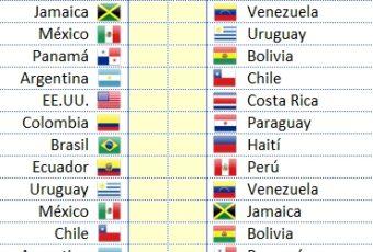 Excel Calendario Copa América Centenario 2016