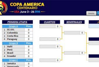 Fixture en Excel: Copa América Centenario 2016