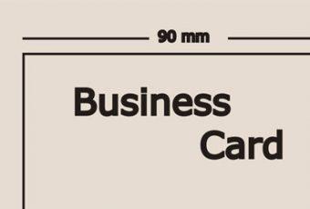 Medidas de tarjetas de presentación