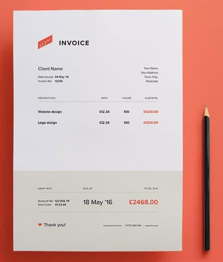 factura comercial formato