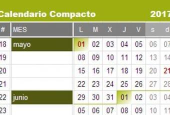 Calendario 2017 formato compacto de Canasto.es