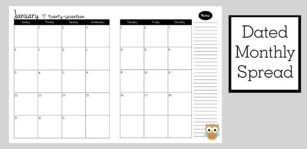 printable 2017 free planner