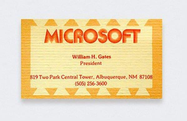 tarjetas de visita de famosos Bill Gates