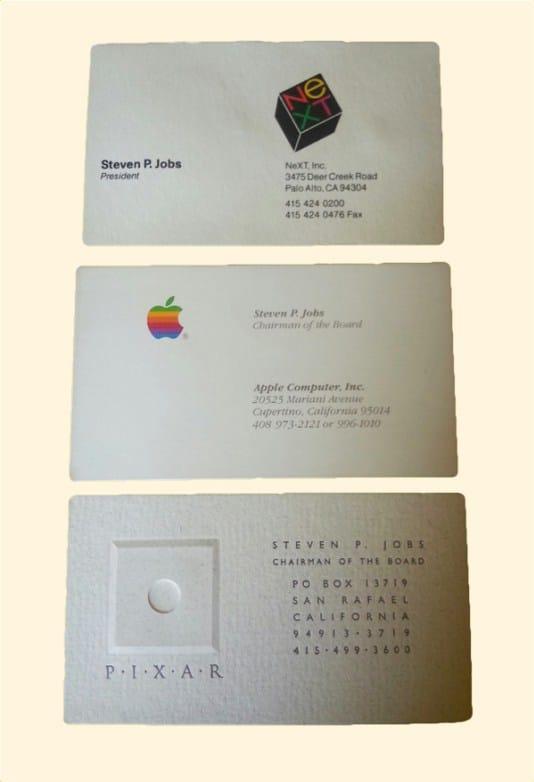 tarjeta de presentación steve jobs