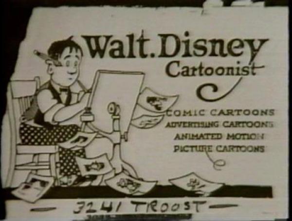tarjeta de visita de famosos Walt Disney