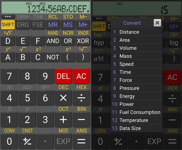 realcalc calculadora cientifica ingenieria