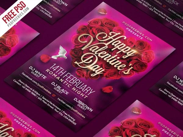 afiches para san valentin