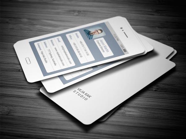 tarjeta de visita estilo telefono samsung