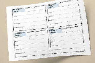 Recibo de dinero en Excel, formato para imprimir en hoja carta