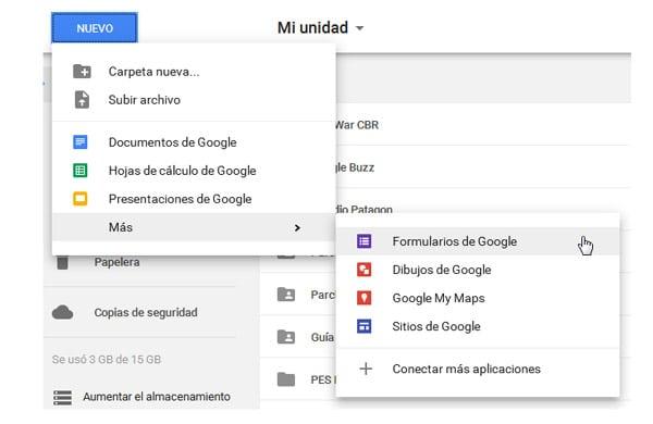 nuevo formulario de google