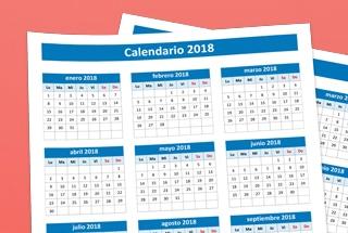 Calendario 2018 Excel para imprimir