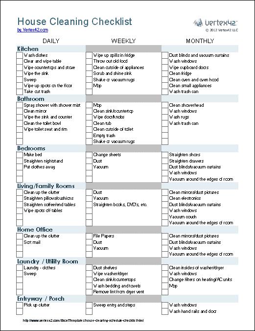 calendario diario semanal mensual tareas del hogar excel