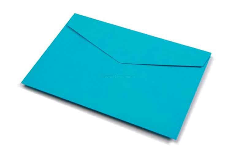 sobres de colores papel