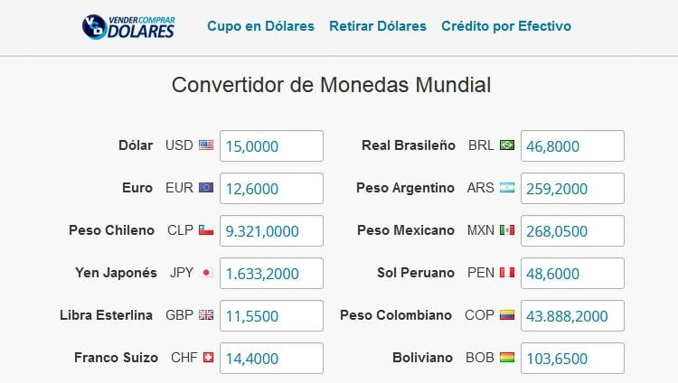 convertidor de monedas online rapido español