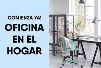 Tu oficina en casa con solo tres elementos básicos: espacio, escritorio y materiales de oficina.