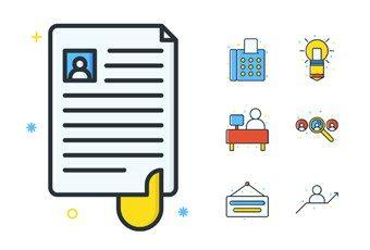 Job Seeker Icons, estupendo pack de iconos con temática de búsqueda laboral