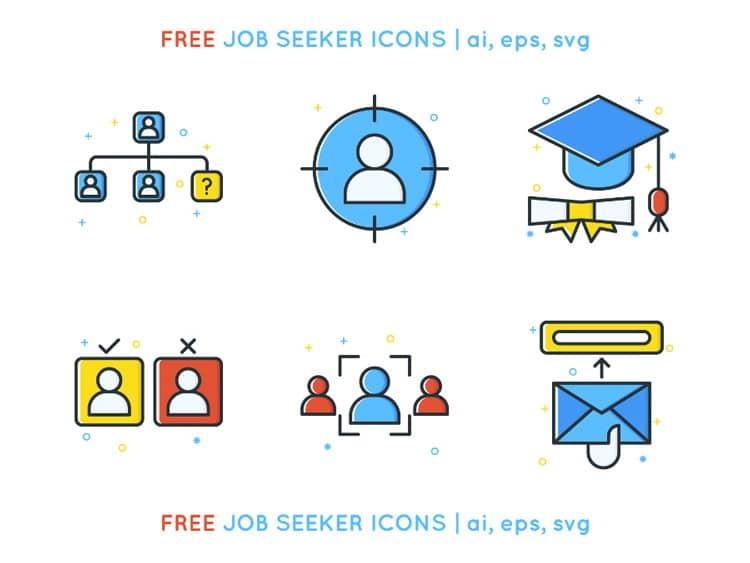 pack de iconos para buscar trabajo