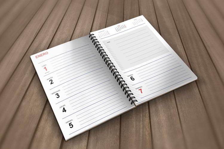 agenda para imprimir año 2018 de cevagraf