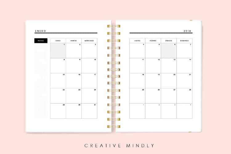 comprar agenda 2018 para editar