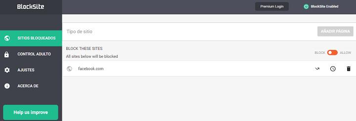 Bloquear sitios web en Chrome con Block Site