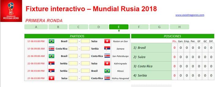 Descargar Plantilla Mundial Rusia 2018 2