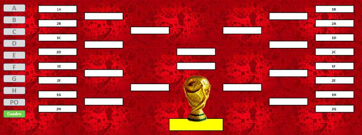 Fixtures en Excel Rusia 2018