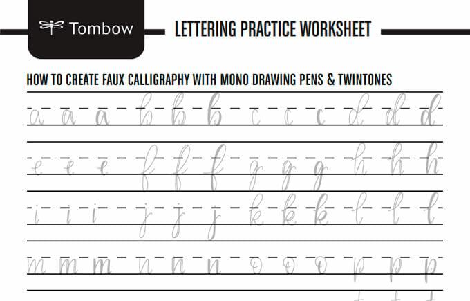 plantillas de lettering en pdf